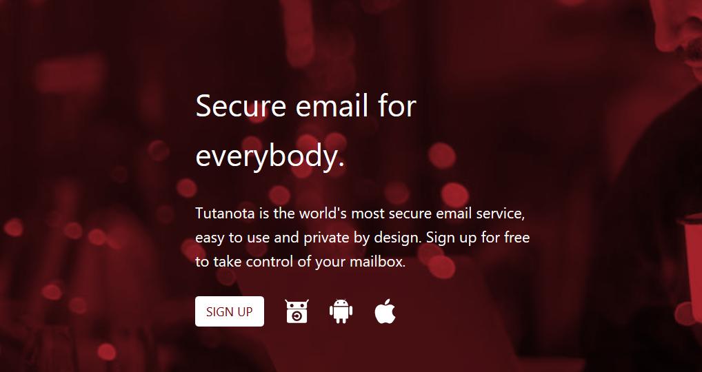 Secure email Tutanota