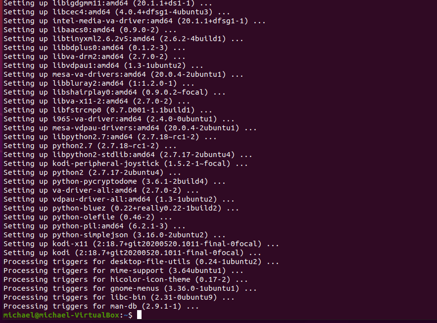 Ubuntu kodi 10