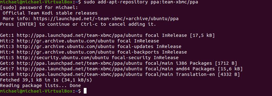 Ubuntu kodi 6
